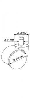 набор колес для паркета/ламината castorset3850/pu Бюрократ